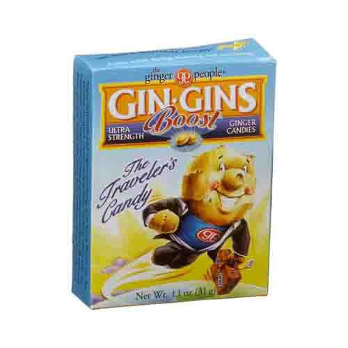 Gingins Super Boost Candy Energy Supplement
