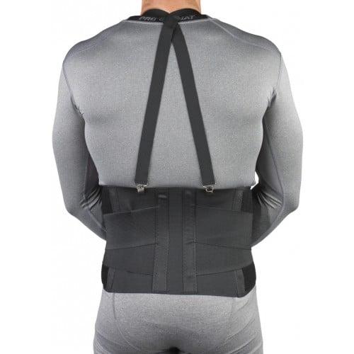 Industrial Back Support Belt with Shoulder Straps, Back View