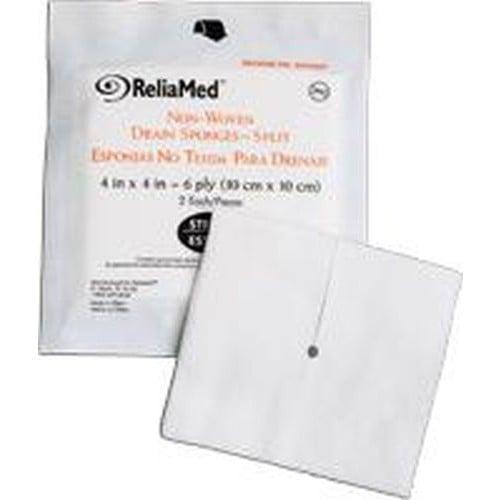 4 x 4 Inch Drainage Split Gauze Sponge 6 Ply, Sterile - Cardinal Health 55CNWDS446S