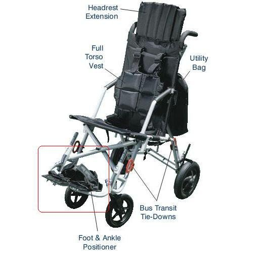 Trotter Foot and Ankle Positioner for Wenzelite Rehab Stroller