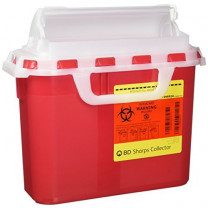 5.4 Quart Red BD Sharps Container 305426