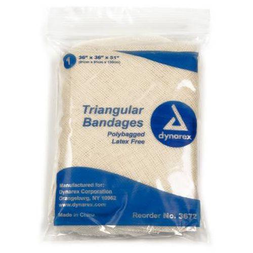 Traingular Bandages, Polybagged, Latex-Free