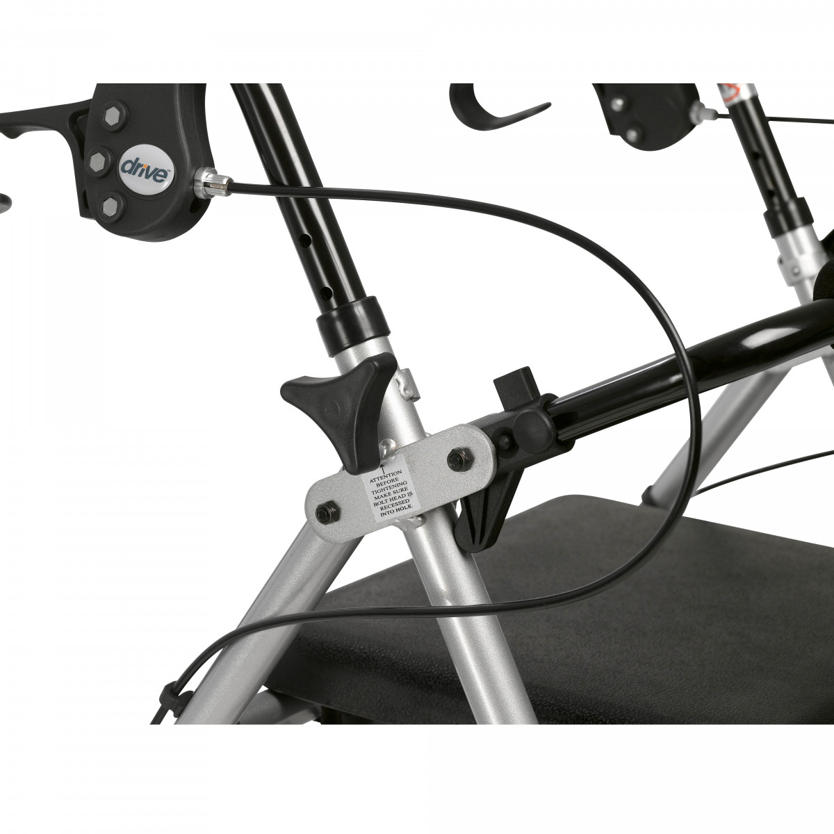 lightweight rollator with fold up and removable back support by drive 8df