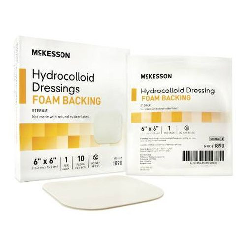 Mckesson 6 x 6 Inch Hydrocolloid Dressing with Foam Backing - 1890 | Sterile