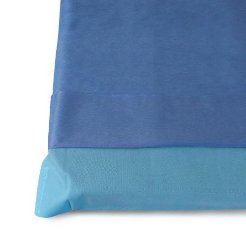 Medline NON37250 Multi-Layer Stretcher Sheet Sets, Blue (Case of 24)