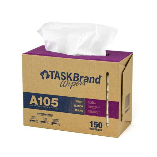 Taskbrand A105 Sontara White Creped Interfold Dispenser Wipers
