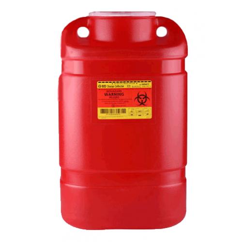 8.2 Quart Red BD Sharps Container Regular Funnel 300470
