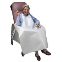 No Flame Smokers Apron White for Geri-Chair