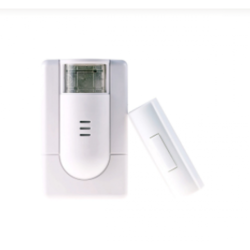 Wireless Doorbell with Flashing Strobe and Push Button
