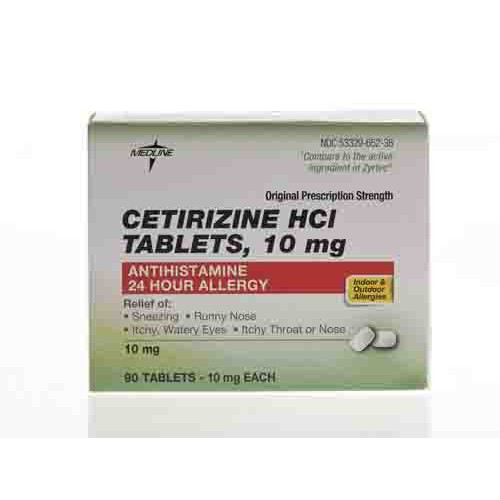 cetirizine allergy relief tablets 185