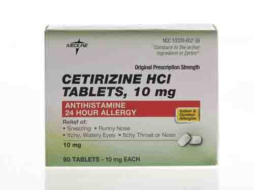 cetirizine allergy relief tablets a18