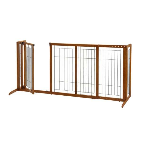 Richell Deluxe Freestanding Pet Gate W Door 94190 94189