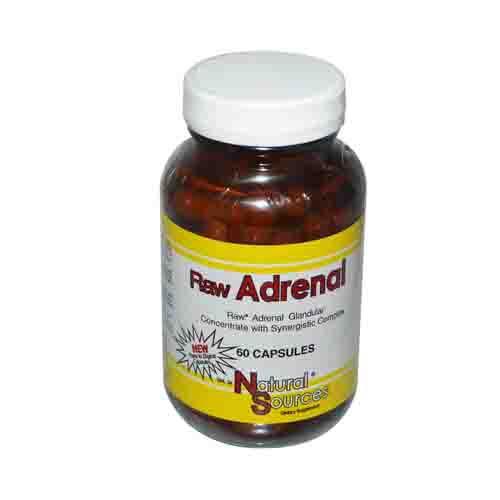Raw Adrenal Glandulars Dietary Supplement