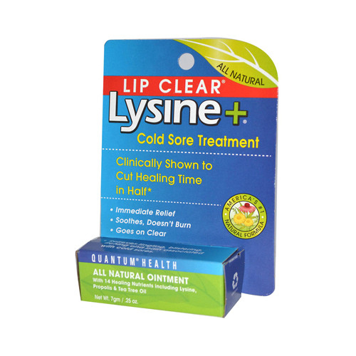 Quantum Lipclear Lysine and Cold Sore Treatment All Natural Ointment