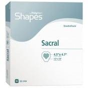 PolyMem Shapes 3709 | Sacral Dressing - 7.2 x 7.8 Inch Sacral Adhesive, 4-1/2 x 4.7 Inch Pad by Ferris