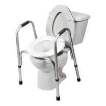PCP Raised Toilet Seat with Safety Frame