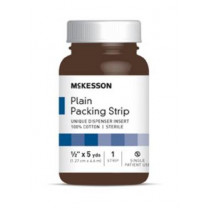 McKesson 1/2 in x 5 yds Plain Packing Strips, Sterile - 61-59220
