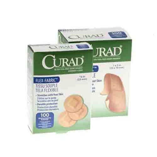 CURAD Fabric Adhesive Bandages, Latex Free Sterile