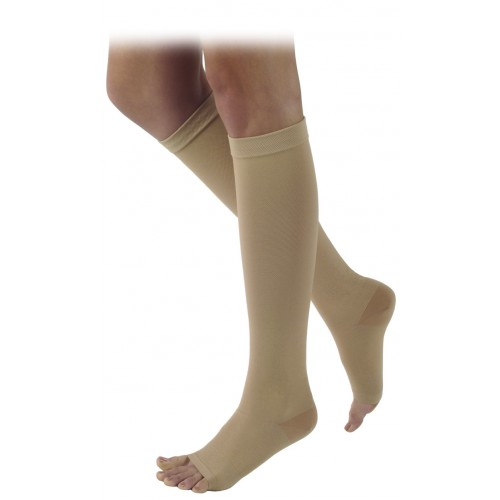 Sigvaris 500 Natural Rubber Knee High Compression Socks - 505C OPEN TOE 50-60 mmHg