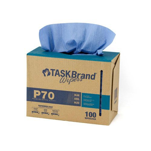 Taskbrand P70 Hd Hydrospun, Interfold, Dispenser, Blue Wipers