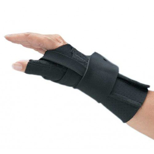 NC79571 Perforated Black Neoprene Splint