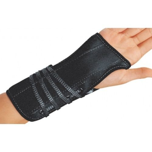 Lace-Up Cinch-Lock Wrist Splint, Suede/Flannel