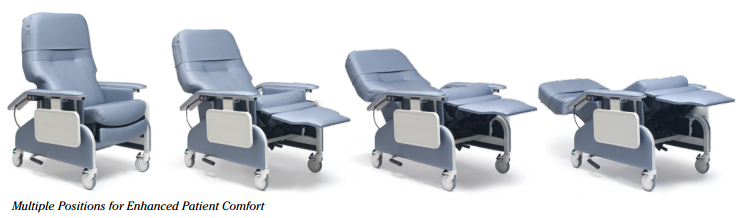 lumex deluxe clinical care recliner by graham field  b37