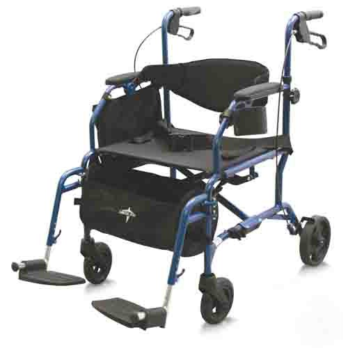 Combination Rollator Transport Chair