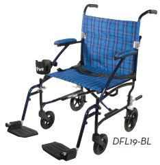 19 Inch Fly Lite Aluminum Transport Chair By Drive Dfl19