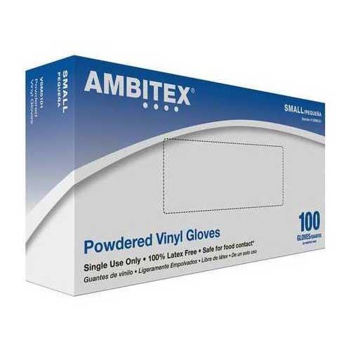 Ambitex Powdered Vinyl Gloves V5101 Series Exam Gloves