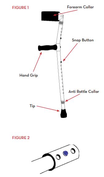 forearm walking crutch euro style lightweight 4d5