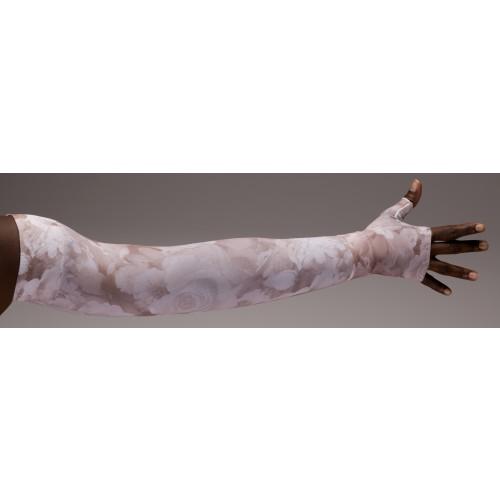 LympheDivas Romantic Rose Compression Arm Sleeve 20-30 mmHg w/ Diva Diamond Band