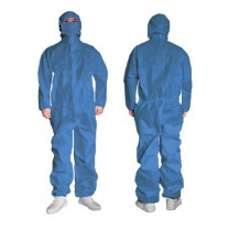 Disposable Non-Sterile Coverall Protective Suit with Hood