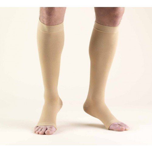 TRUFORM Classic Medical Knee High Support Stockings OPEN TOE 20-30 mmHg