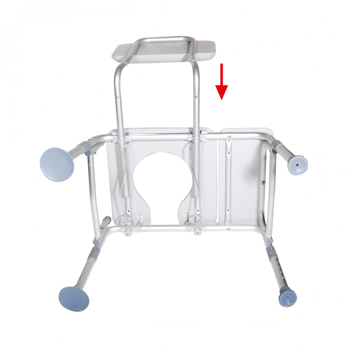 Bath Shower Transfer Bench With Padded Seat And Commode