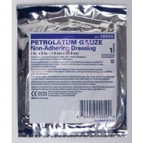 USP White Petrolatum Gauze Pleated Dressing 3 x 9 Inch - Sterile