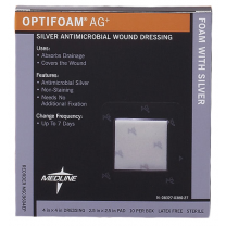 Optifoam Antimicrobial AG Silver Dressing