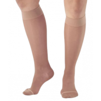 AW Style 16 Sheer Support Closed Toe Knee Highs - 15-20 mmHg