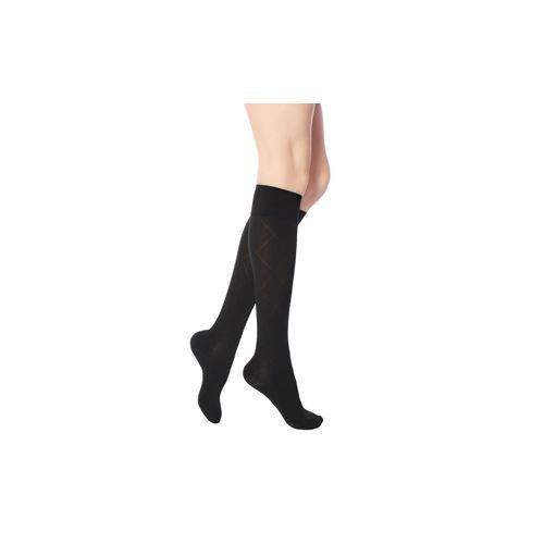 Black Micro-Nylon Fashion Trouser Socks 20-30 mmHg