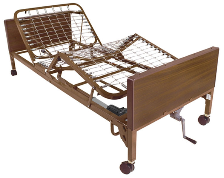 drive medical 15004 semi electric bed with single crank 8e2