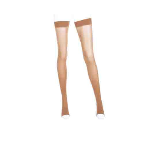 Mediven Plus Thigh High Compression Stockings OPEN TOE w/ Silicone Top Band 40-50 mmHg
