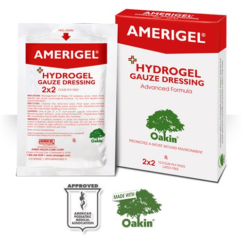 Amerigel Hydrogel Gauze Dressing Advanced Formula