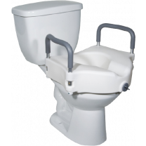 Drive Medical Raised Toilet Seat with Removable Arms | 2-n-1 Locking
