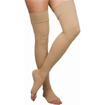 Thigh-High Compression Stockings, Open Toe