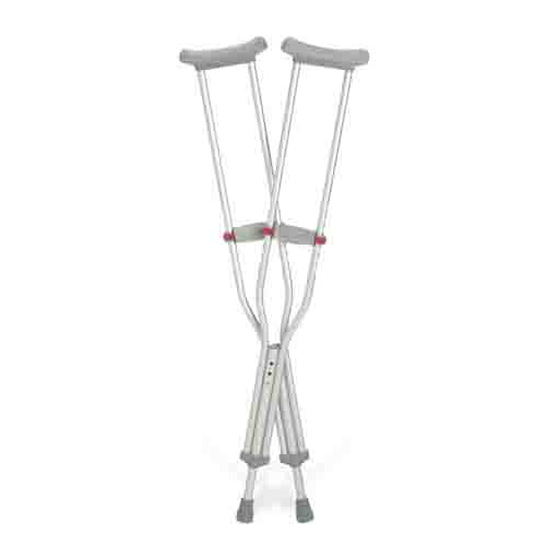 Red Dot Aluminum Crutches