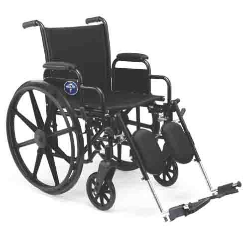 Medline Strong Stainless Steel Wheelchair