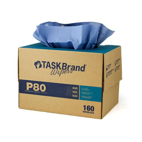 Taskbrand P80 Pd Hydrospun, Interfold, Twin Tote, Blue Wipers