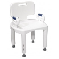 Bath Shower Bench with Back and Arms Premium Series by Drive