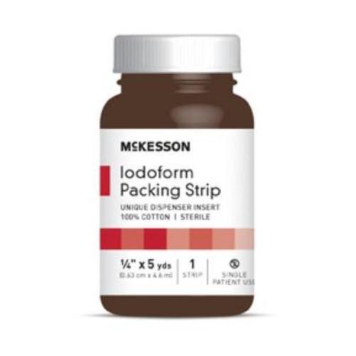 McKesson Iodoform Gauze 1/4 Inch Packing Strips