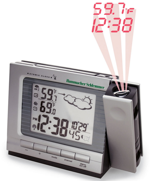 Projection Alarm Clock Buy Weather Monitor Atomic Clock